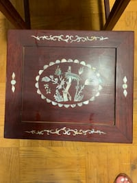 Chinese  mother of pearl inlay stackable tables Philadelphia