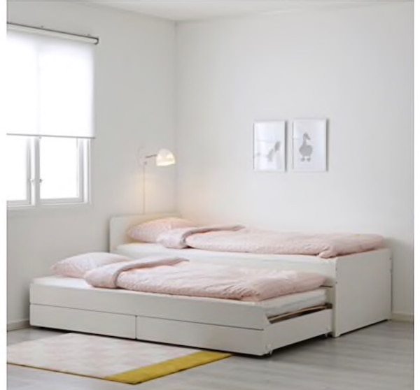 Ikea SlÄkt Twin Bed Frame With Pull Out And Storage