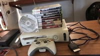 white Xbox 360 with controller and game cases Los Angeles, 90065