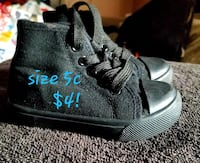 pair of black Adidas high-top sneakers Chino, 91710