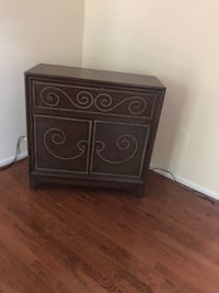 brown wooden 2-drawer nightstand CENTREVILLE
