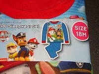 NEW WITH TAGS- 18 MONTHS- PAW PATROL - 2 PC LONG SLEEVED FLANNEL SLEEPWEAR SET Sarnia, N7T 1J3