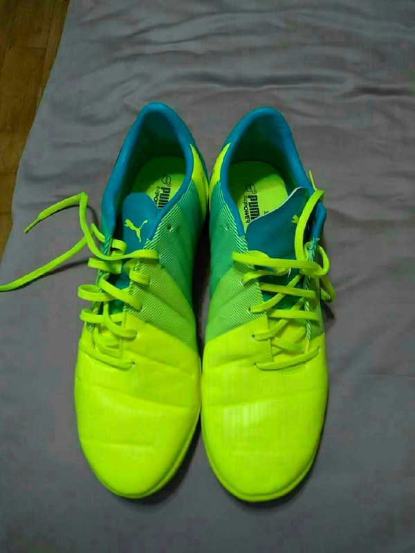 816fa44dbf2a Used blue-and-neon green Puma low top lace up soccer cleats for sale in  Scottsdale - letgo