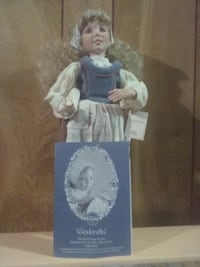 blue and white dressed porcelain doll box Johnson City, 37601