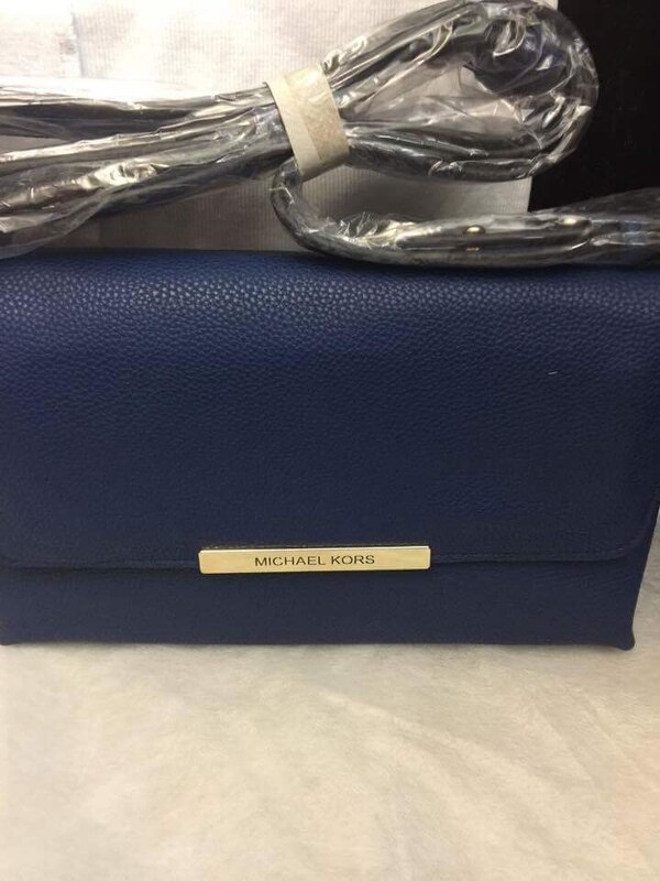 be885d3d844a Used blue Michael Kors leather clutch bag for sale in Miami - letgo