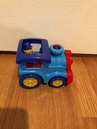 Toddler toy train and police car- lights up and makes noises