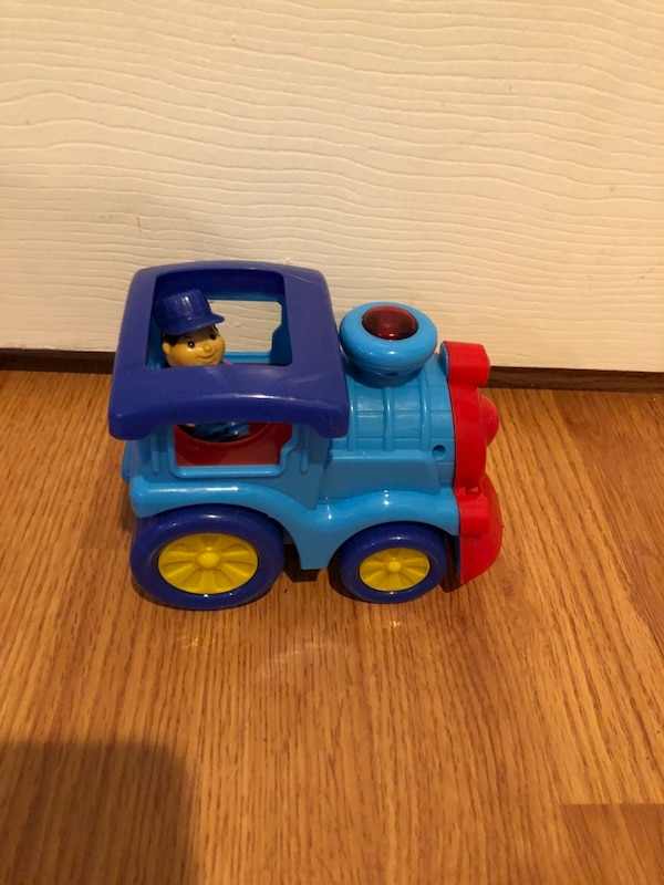 Toddler toy train and police car- lights up and makes noises ff92d55b-cf02-4921-adf5-8d5f3afb5443