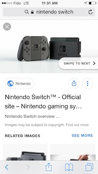 Nintendo switch with box and Zelda and 1 2 switch and case Montréal, H4C 1T9