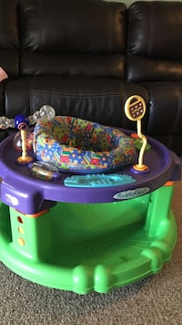 Green and purple Evenflo activity saucer $5