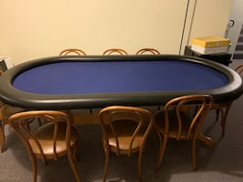 Poker table w/ chairs