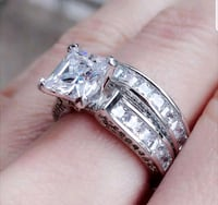 $14 NEW sz 6 or 8 silver plated CZ ring  Ballwin, 63021