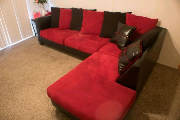 Tremendous Used Sale Red And Black Sectional Couch For Sale In San Onthecornerstone Fun Painted Chair Ideas Images Onthecornerstoneorg
