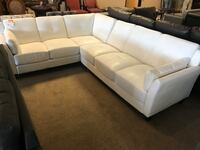White Bonded Leather Sectional  Phoenix, 85018