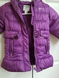 purple zip-up bubble vest Rockville