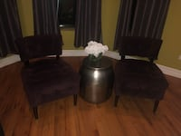2 purple Tufted Chairs- Pier One Chicago, 60615