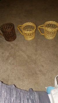 3 Wicker cups with handles Montgomery County, 18070