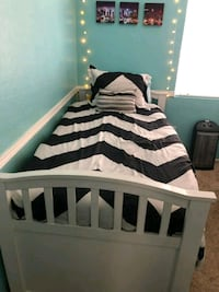 White Twin Trundle Bed San Diego, 92127