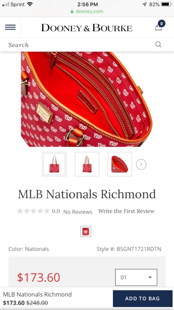 Dooney & Bourke Washington Nationals Bag b6338189-7e9c-447b-8f13-b87873fd291c