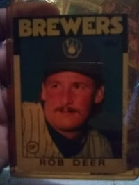 Brewers Rob Deer trading card Pine Hills, 32808