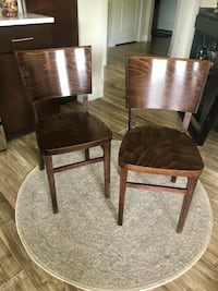 MCM Walnut Dining Chairs (set of 2) Sterling, 20166