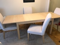 Ikea dining set with 4 chairs very beandnew Toronto, M4P 3A1