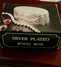 (2) Silver Plated Jewel Boxes