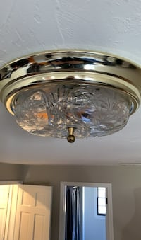 Vintage glass light fixture