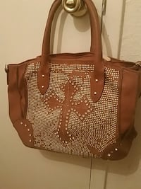 brown and white leather tote bag Fresno, 93706