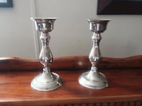 two stainless steel candle holders Florence