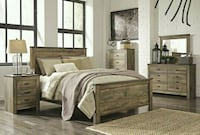 Trinell Brown Panel Bedroom Set   Houston