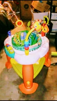 baby's multicolored activity saucer 2219 mi