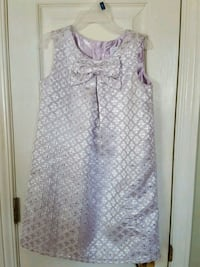Purple and silver girls size 5t dress & hair piece Quinte West, K8V 5P8