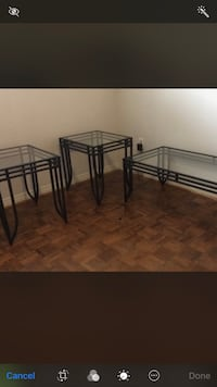 Small coffee table and end tables