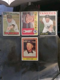 YANKEES Whitey Ford Pitcher TRADING Cards Tops