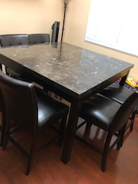 rectangular brown wooden table with six chairs dining set Las Vegas, 89148