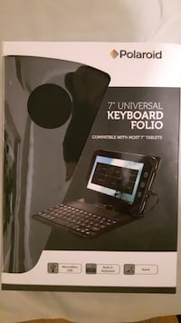 """New in box black and grey keyboard folio/case for 7"""" tablet Surrey, V3W 4G4"""