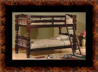 Twin wooden bunkbed frame Washington, 20018