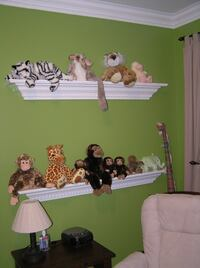 2 wall sconce shelves made from dental crown RESTON