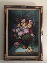 white and pink petaled flowers painting Mission, 78574