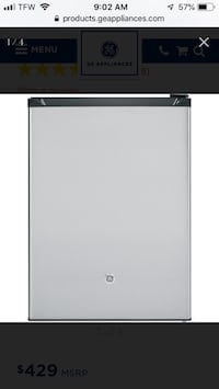 GE® Compact Stainless Steel Refrigerator GCE06GSHSB- Brand New! 6 mi