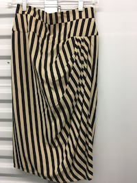 Vintage black and beige striped Liancarlo skirt, size 4-6 Marina Del Rey, 90292