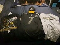 Pittsburgh jersey and hat and 2 tshirt brand new Baltimore, 21234