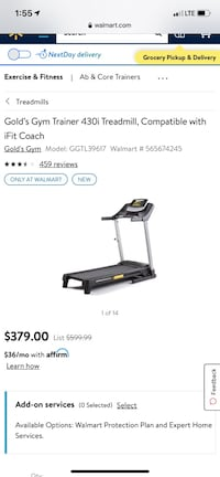 Golds gym 420 trainer treadmill
