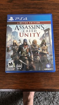 Assassin's Creed Unity PS4 game case Denver, 80203