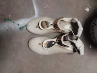 pair of white leather mary jane shoes San Angelo, 76903