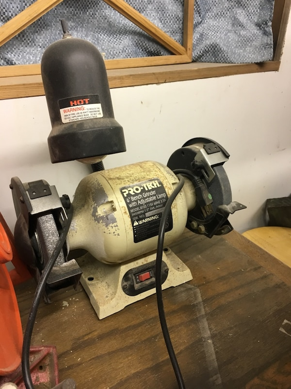 Cool Pro Tech 6 Bench Grinder With Adjustable Lamp Unemploymentrelief Wooden Chair Designs For Living Room Unemploymentrelieforg