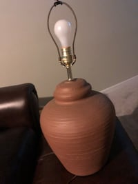 Brown Clay table lamp