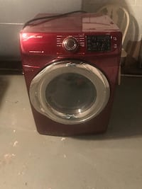 red Samsung front-load clothes washer 24017