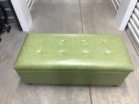 Green Leather Ottoman with Storage West Des Moines, 50265