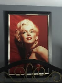 illustration of Marilyn Monroe with black wooden frame London, N6C 5G2